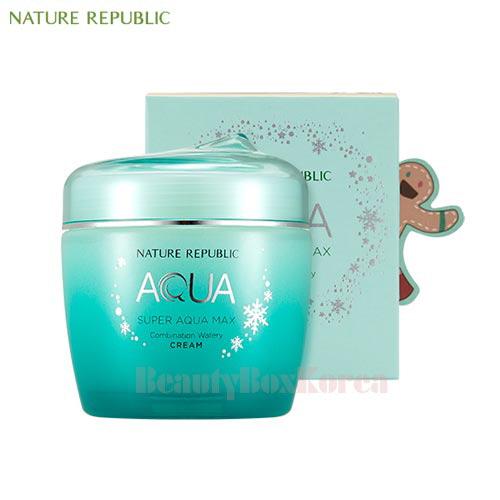 NATURE REPUBLIC Super Aqua Max Combination Watery Cream 120ml [Green Holiday Edition] ...